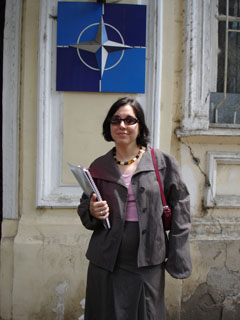 Ziba Norman at the offices of Georgia For NATO, Tbilisi